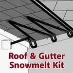 SpeedTrace Roof & Gutter Snowmelt Kit
