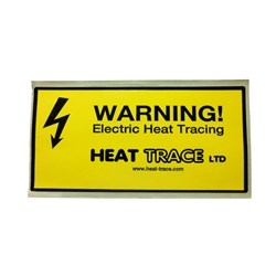 Caution Label For Insulated Heat Trace Cable