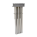"DERATED Triple Metal OTS Steel Heater, 15000W, Hot zone, 49 in., 59"" overall length"