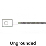 Ungrounded Ring Thermocouple .33 inch ID Ring Size with Fiberglass Insulated Leadwires
